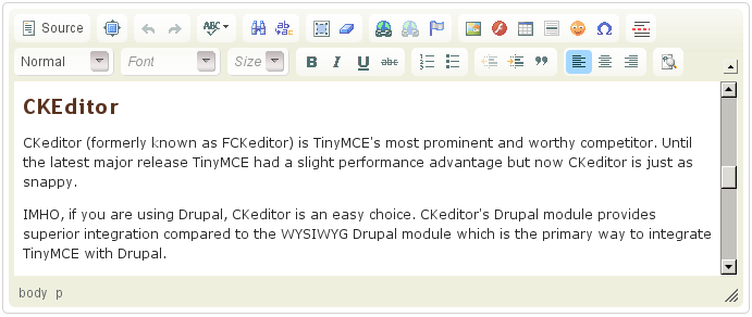 TinyMCE vs CKEditor: battle of titans! (of WYSIWYG editing