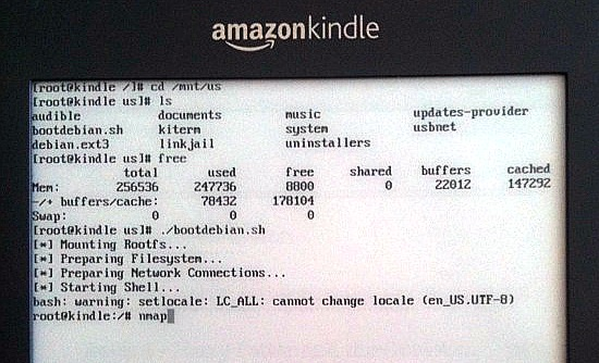 On my Kindle I am root | TurnKey GNU/Linux