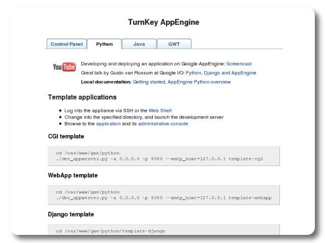 AppEngine - TurnKey control panel (python) | TurnKey GNU/Linux ...