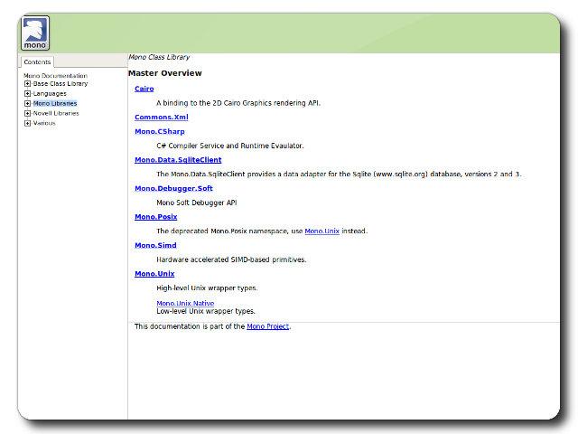 ASP  NET on Apache with Mod mono - Embedded documentation