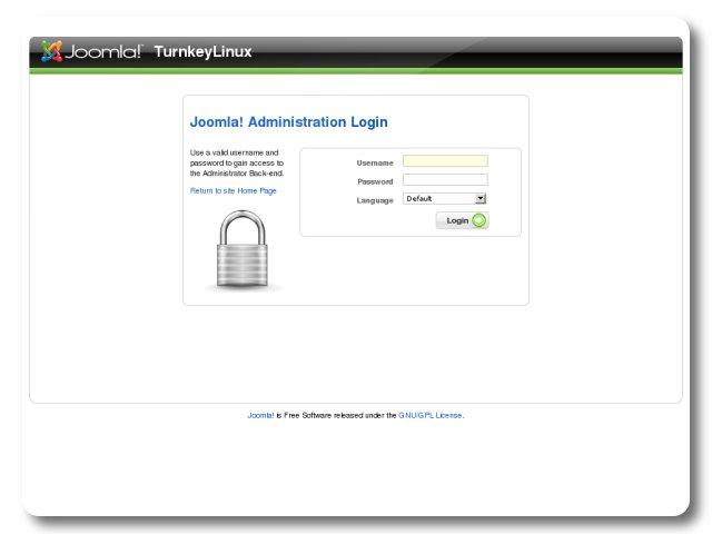 Joomla Login | TurnKey GNU/Linux screenshot