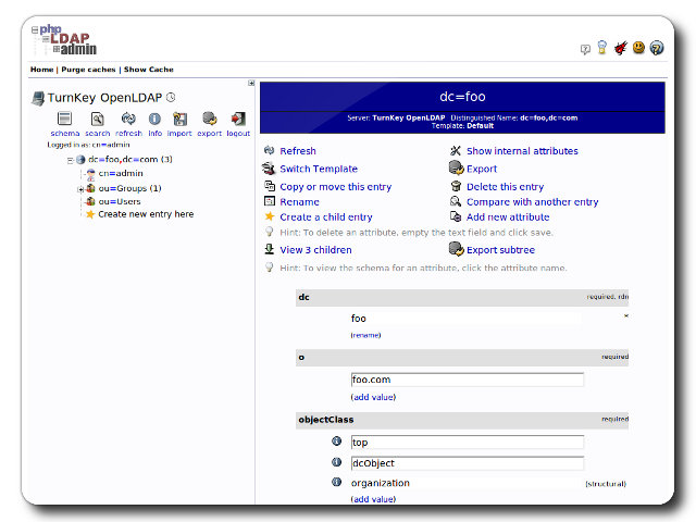 OpenLDAP | TurnKey GNU/Linux