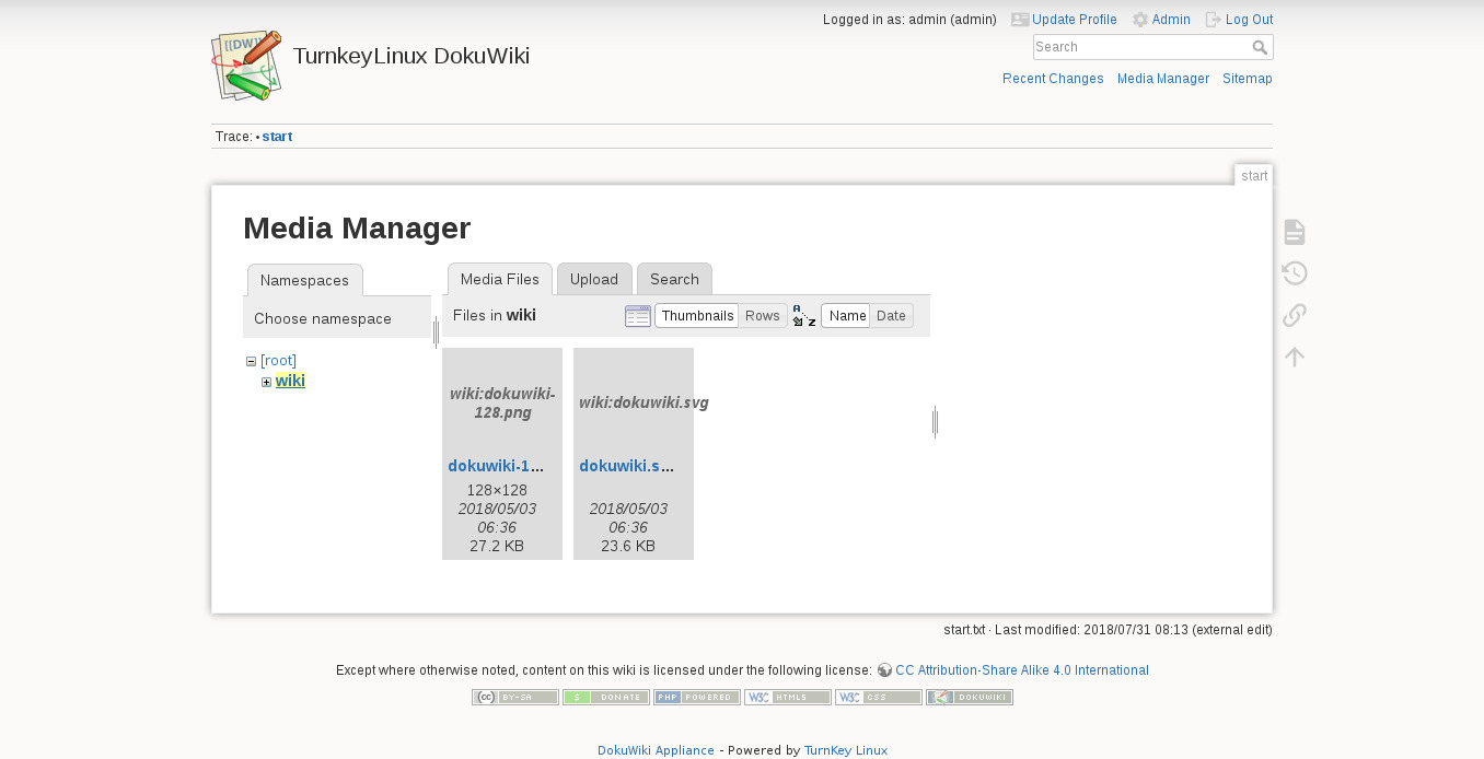 DokuWiki | TurnKey GNU/Linux