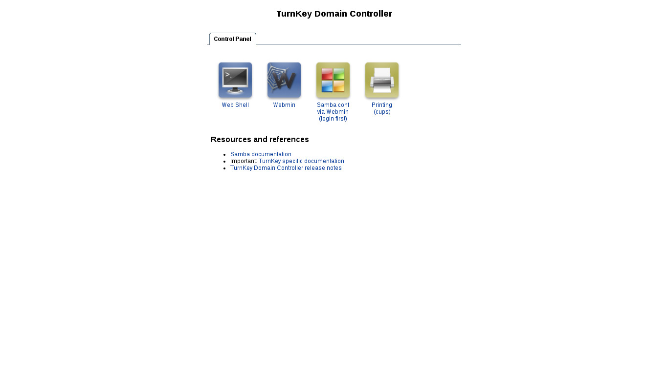 Domain Controller | TurnKey GNU/Linux