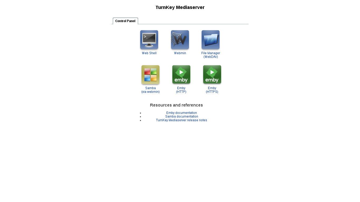 MediaServer | TurnKey GNU/Linux