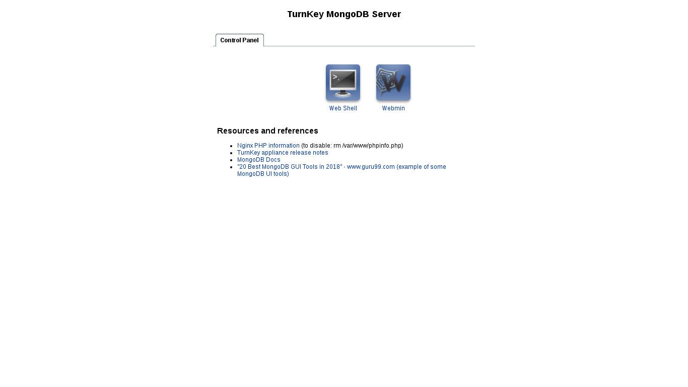MongoDB | TurnKey GNU/Linux